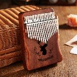 Калимба музыкальный инструмент на 17 язычков (премиум качество) - орнамент Коричневый, фото 2