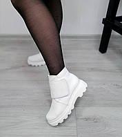 Белые полуботинки на липучке, фото 1