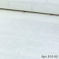Обои супер мойка виниловые на бумажной основе под белый кирпич 53см х 10м кухня ванна прихожая