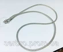 Серебряная родированая цепочка-колье