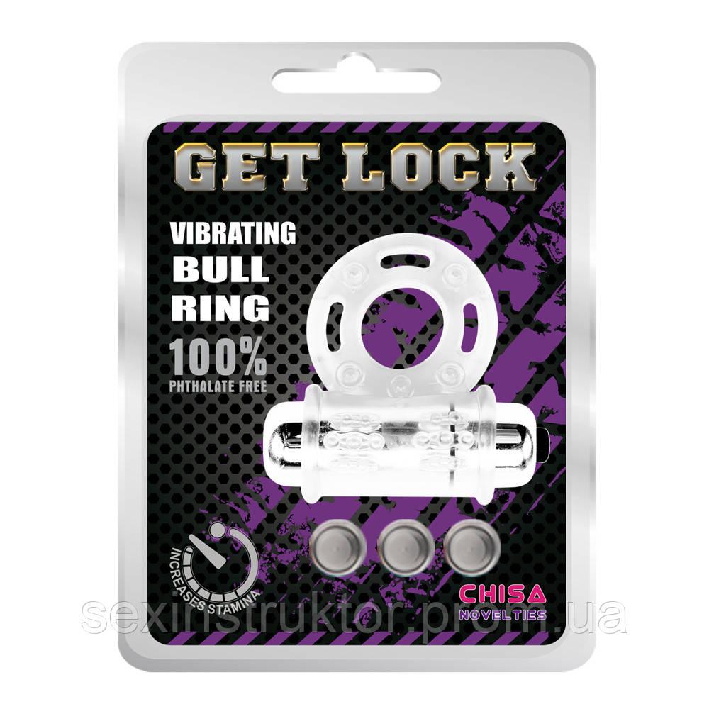 Эрекционное виброкольцо - Get Lock Vibrating Bull Ring Clear