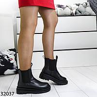Женские ботинки на плоской подошве с резинкой