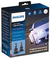 Лампа светодиодная Philips Led-Fog H8/Р11/H16 Ultinon Pro9000 +250%, 2 шт/комплект