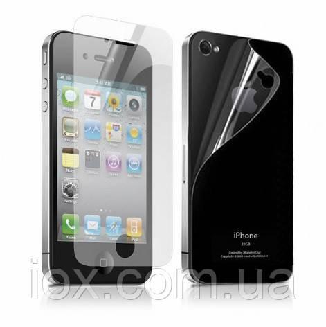 Защитная пленка(мат,глянец) для iPhone 4/4S (передняя + задняя)