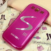 Чехол розовый для Samsung GalaxyS3 (i9300) с логотипом Галакси, фото 1