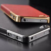 Оригинальный чехол красный с золотом для Iphone 4/4S