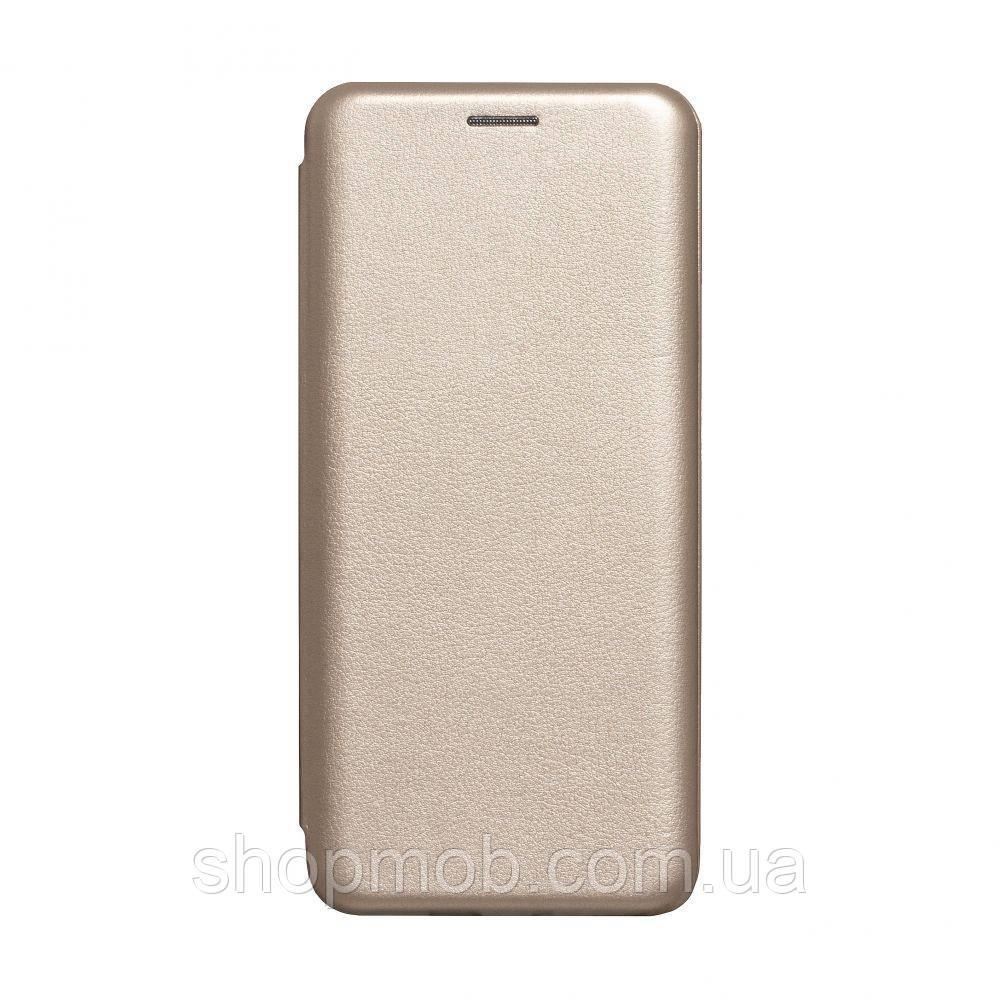 Чехол-книжка кожа Huawei Y6P Eur Ver Цвет Золотой