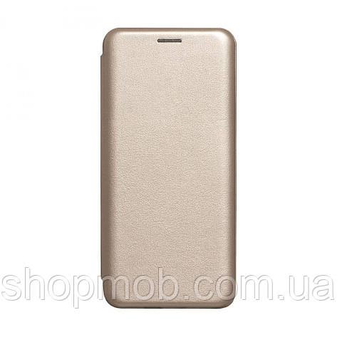 Чехол-книжка кожа Huawei Y6P Eur Ver Цвет Золотой, фото 2