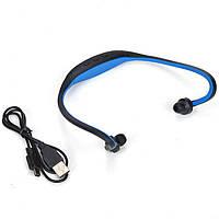 Наушники  MP3 SPORT + FM и microSD MP3 SPORT, Спорт плеер для активных (слот TF Card),  bluetooth
