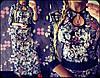 Женское красивое длинное платье с украшением в расцветках