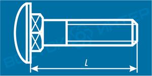 Как определить длину болта с увеличенной полукруглой головкой и квадратным подголовком