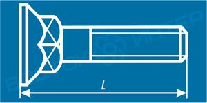 Как определить длину болта с потайной головкой и квадратным подголовком