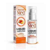 Лубрикант с эффектом вибрации Amoreane Med Liquid Vibrator Peach (30 мл), фото 1