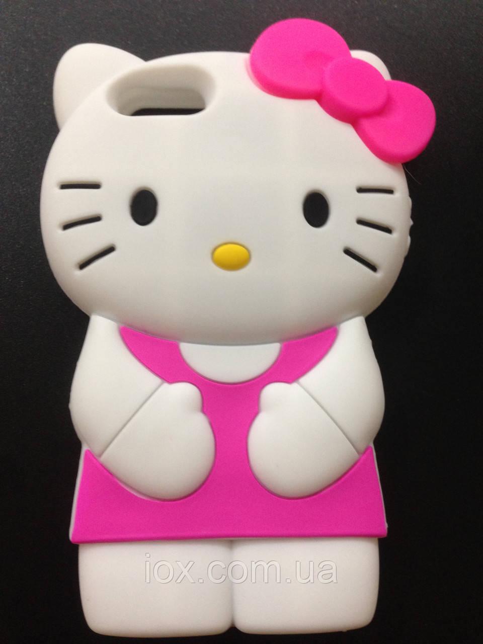 """Силиконовый чехол """"Kitty"""" розовый для Iphone 5G/5GS"""