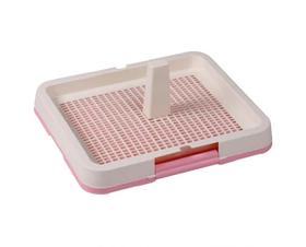 Туалет под пеленки AnimAll с решеткой и столбиком P 683 48.3x40.3х4 см розовый