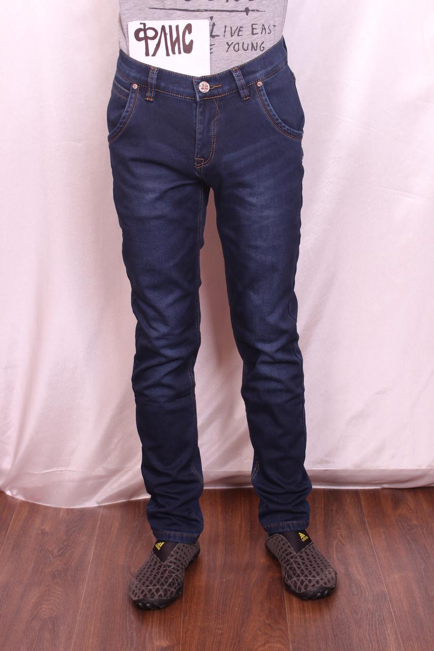 Мужские джинсы Longli утепленные на флисе