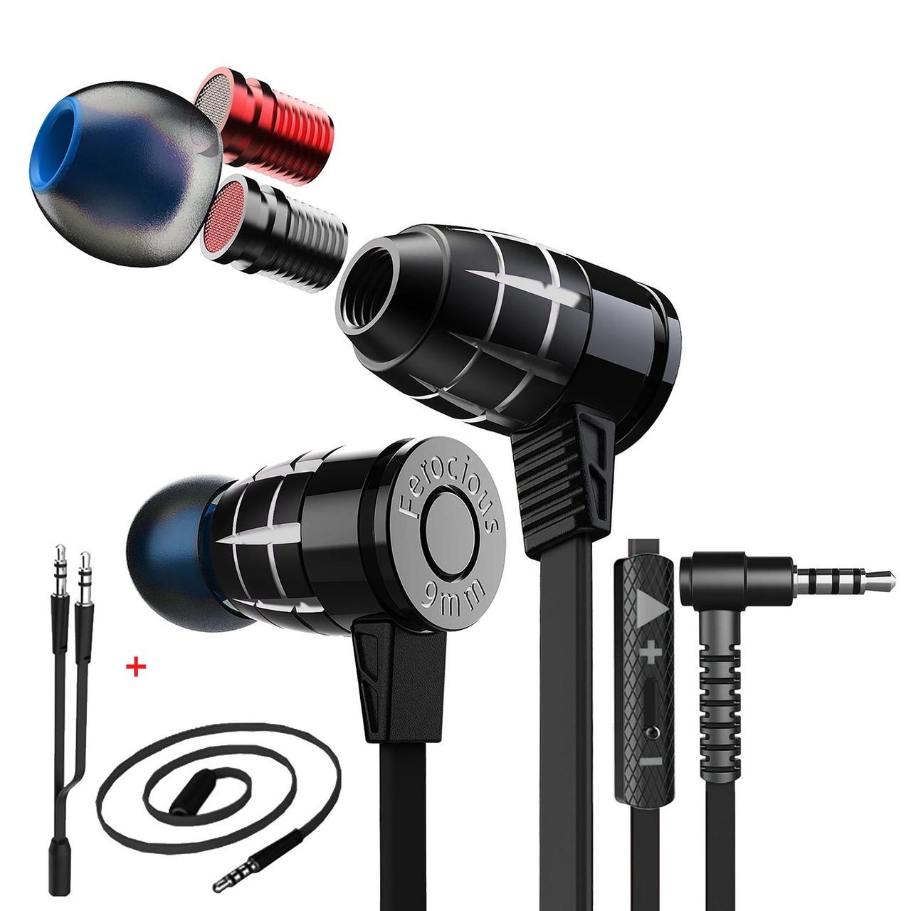 Ігрові стерео навушники (1.2 м) геймерська дротові гарнітура з мікрофоном для ПК комп'ютера PS4 Xbox