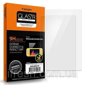 Защитное стекло Spigen для Nintendo Switch Lite - 2 шт, (AGL00219)