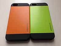 Двойной салатовый чехол для Iphone 5/5S силикон + пластик