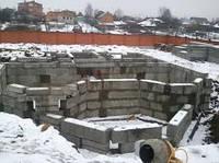 Монтаж железобетонных блоков