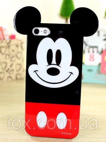 Глянцевый силиконовый Микки Маус чехол для Iphone 5/5S