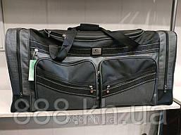 Дорожная универсальная сумка в дорогу, дорожная сумка размер 80/35/40 см, цвет серый
