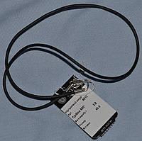 Каучуковый шнурок с вставками серебра 925 пробы и серебрянной застежкой 50 см