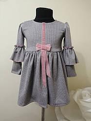 Теплое платье в садик девочке