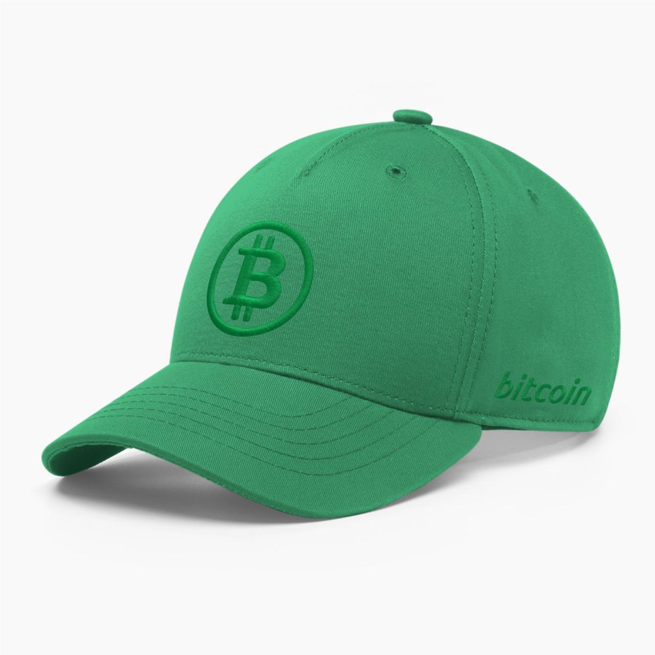 Кепка бейсболка INAL Биткоин Bitcoin BTC S / 53-54 RU Зеленый 2353