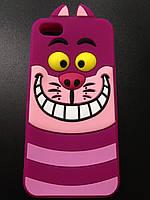 Силиконовый розовый кот для Iphone 5 и 5S