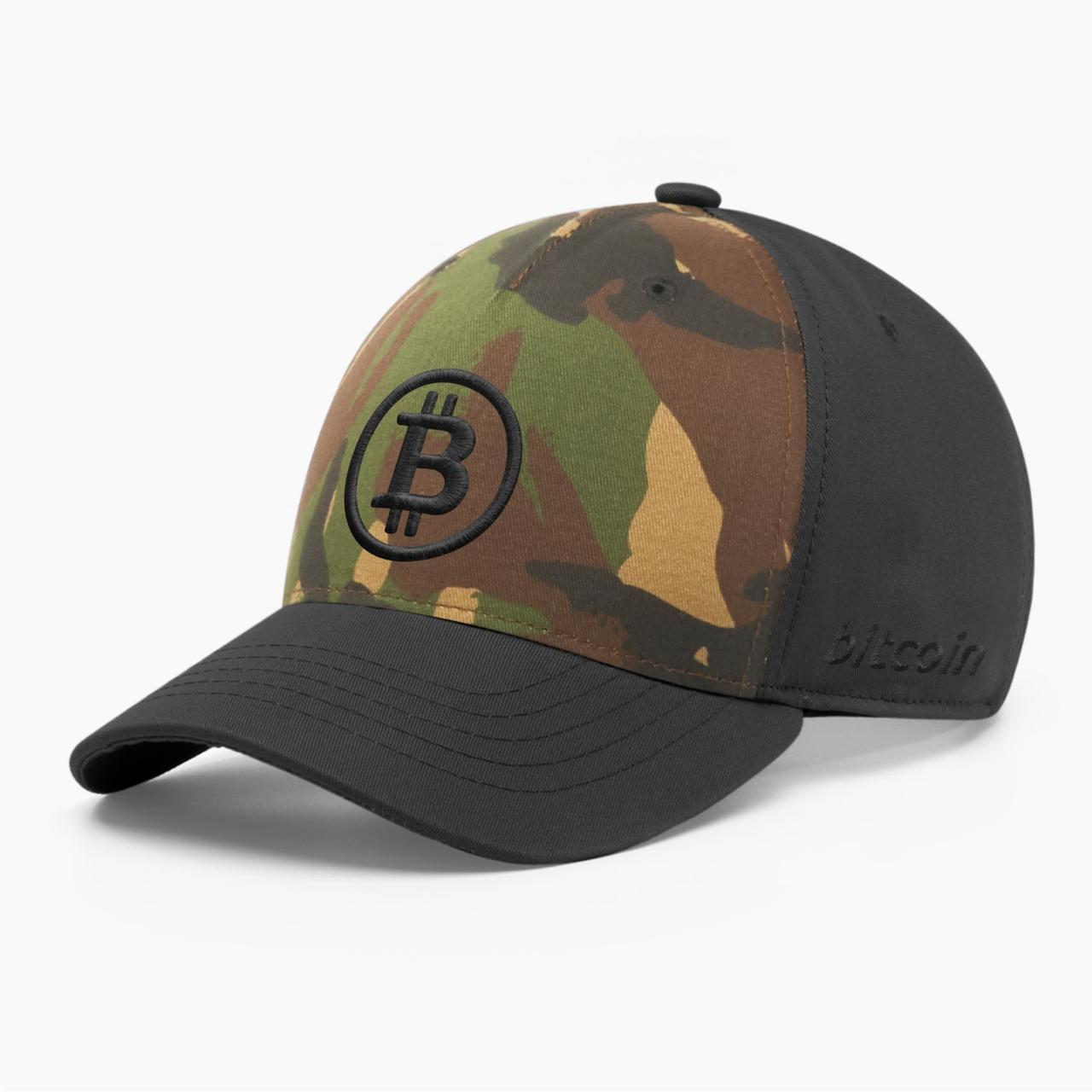 Кепка бейсболка INAL Биткоин Bitcoin BTC S / 53-54 RU Хаки 5053