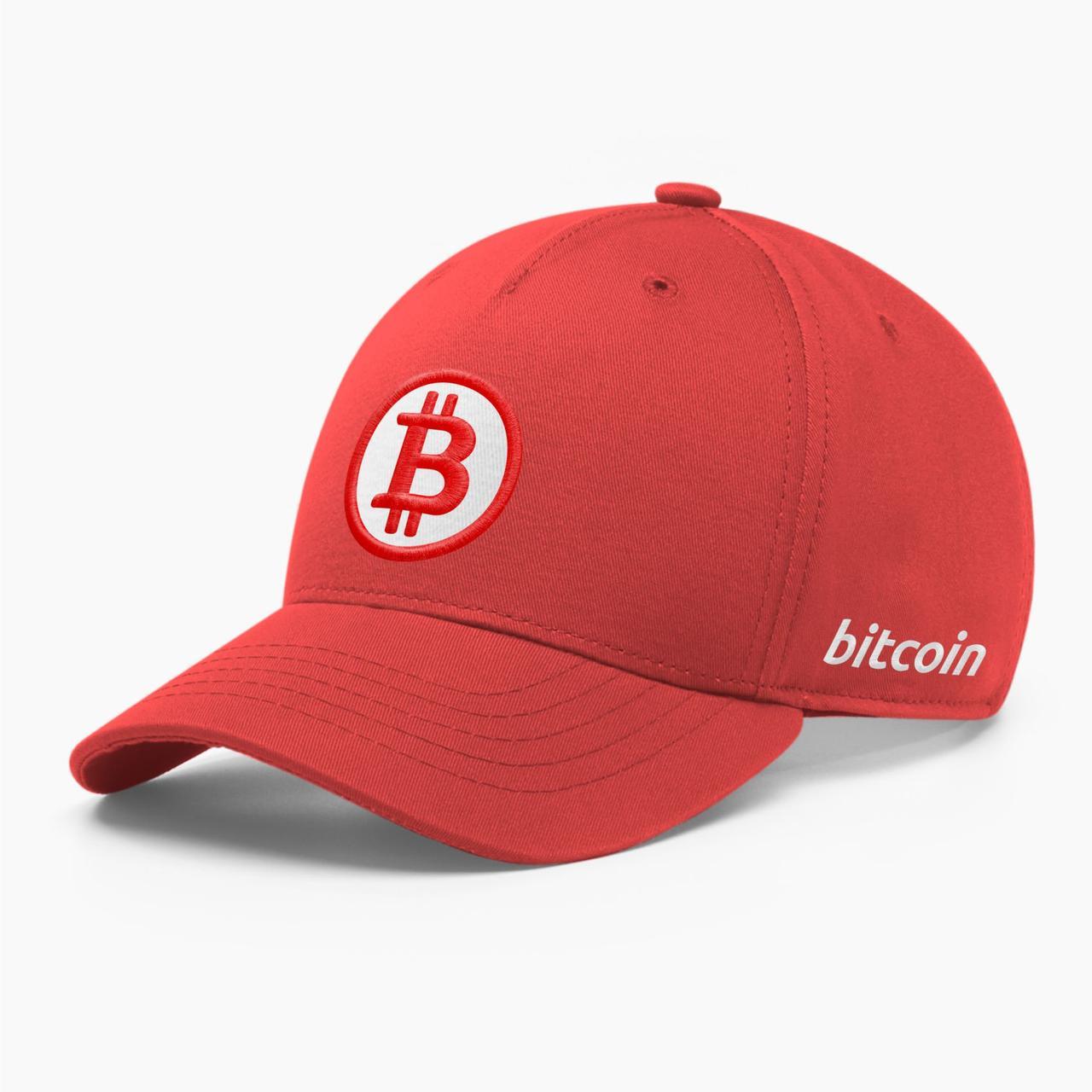 Кепка бейсболка INAL Биткоин Bitcoin BTC S / 53-54 RU Красный 7353