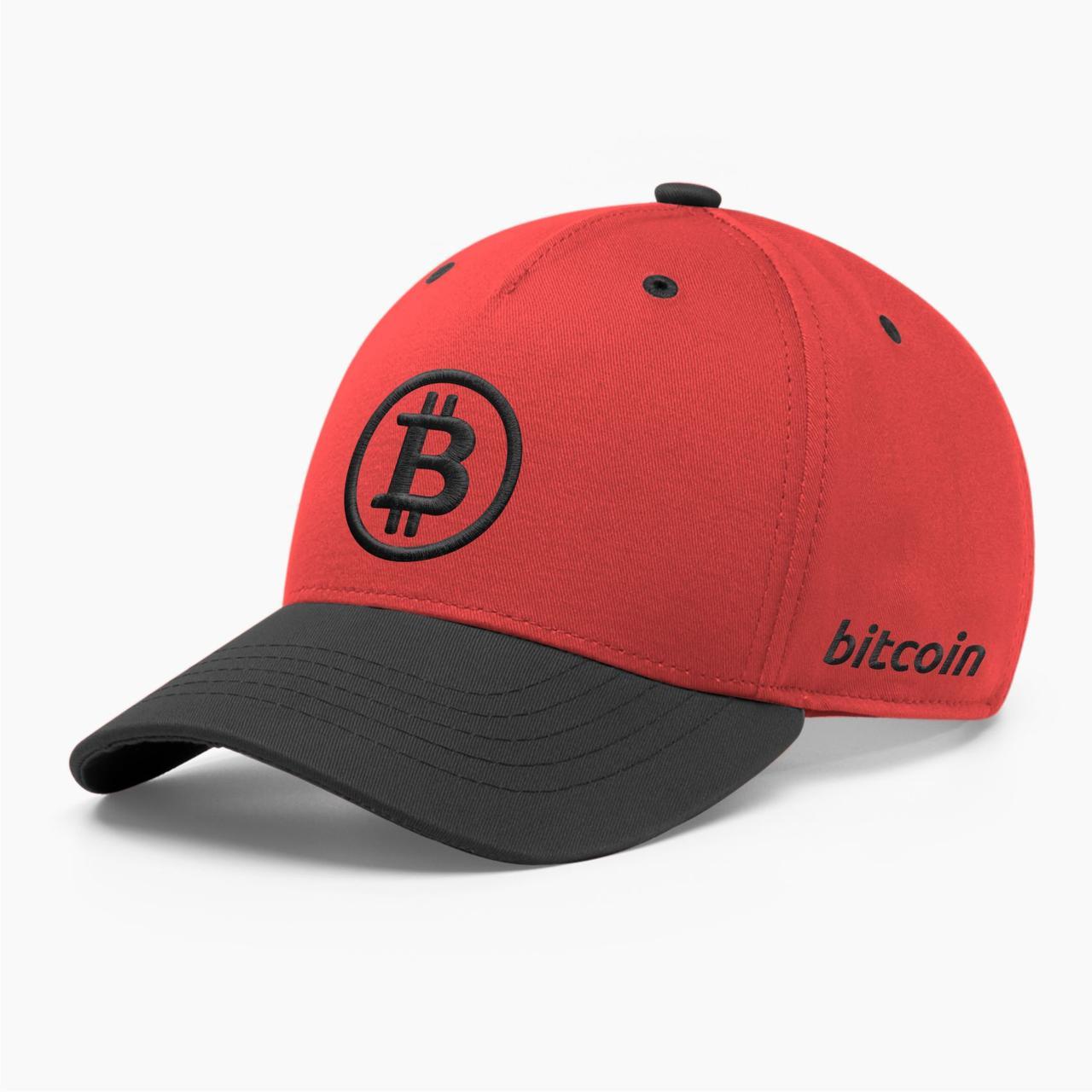 Кепка бейсболка INAL Биткоин Bitcoin BTC S / 53-54 RU Красный 11553