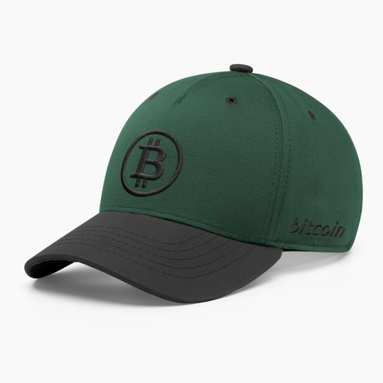 Кепка бейсболка INAL Биткоин Bitcoin BTC S / 53-54 RU Зеленый 15453