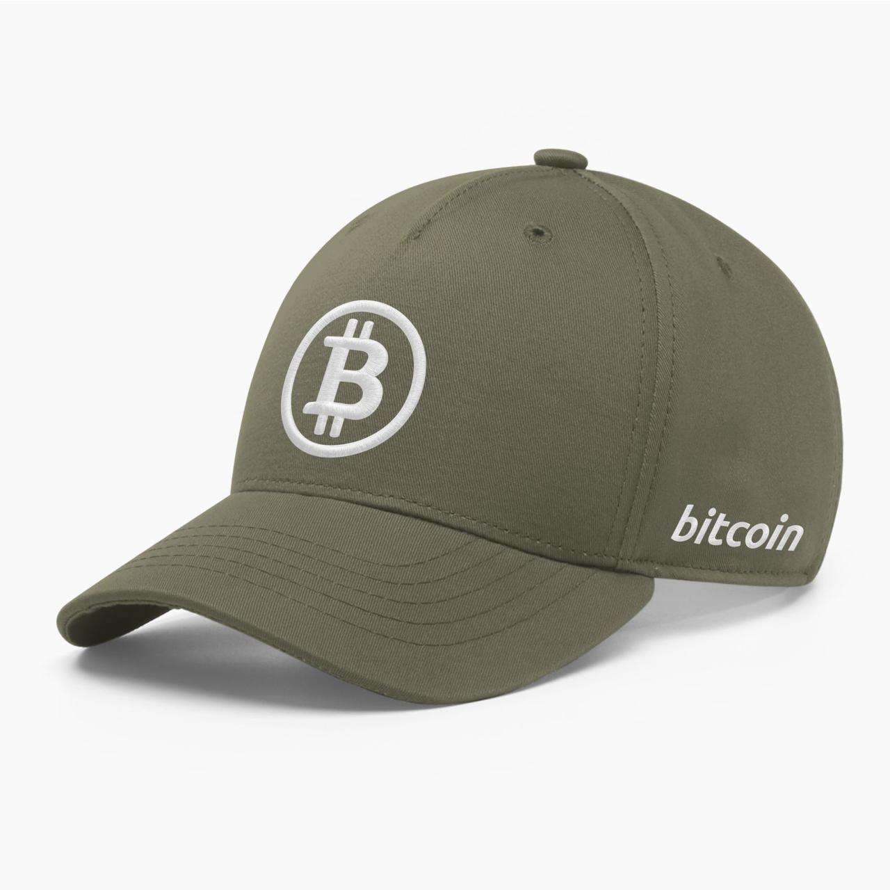 Кепка бейсболка INAL Биткоин Bitcoin BTC S / 53-54 RU Хаки 16353