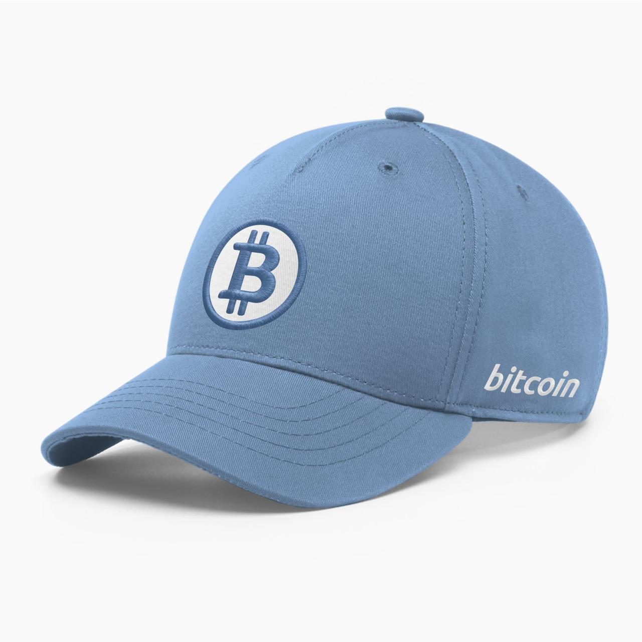 Кепка бейсболка INAL Биткоин Bitcoin BTC S / 53-54 RU Синий 22853