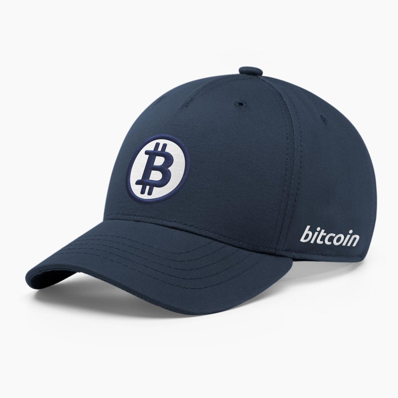 Кепка бейсболка INAL Биткоин Bitcoin BTC S / 53-54 RU Синий 23153