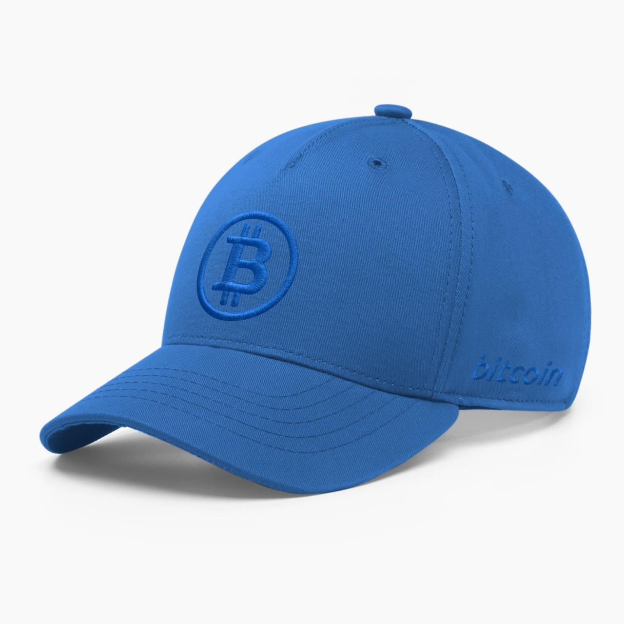 Кепка бейсболка INAL Биткоин Bitcoin BTC S / 53-54 RU Синий 29353
