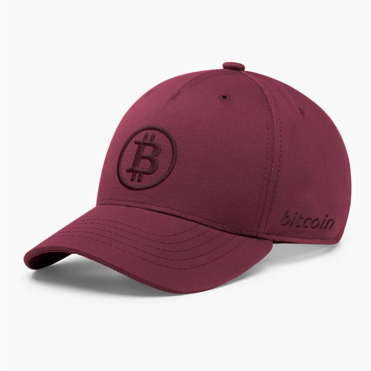 Кепка бейсболка INAL Биткоин Bitcoin BTC S / 53-54 RU Бордовый 45053