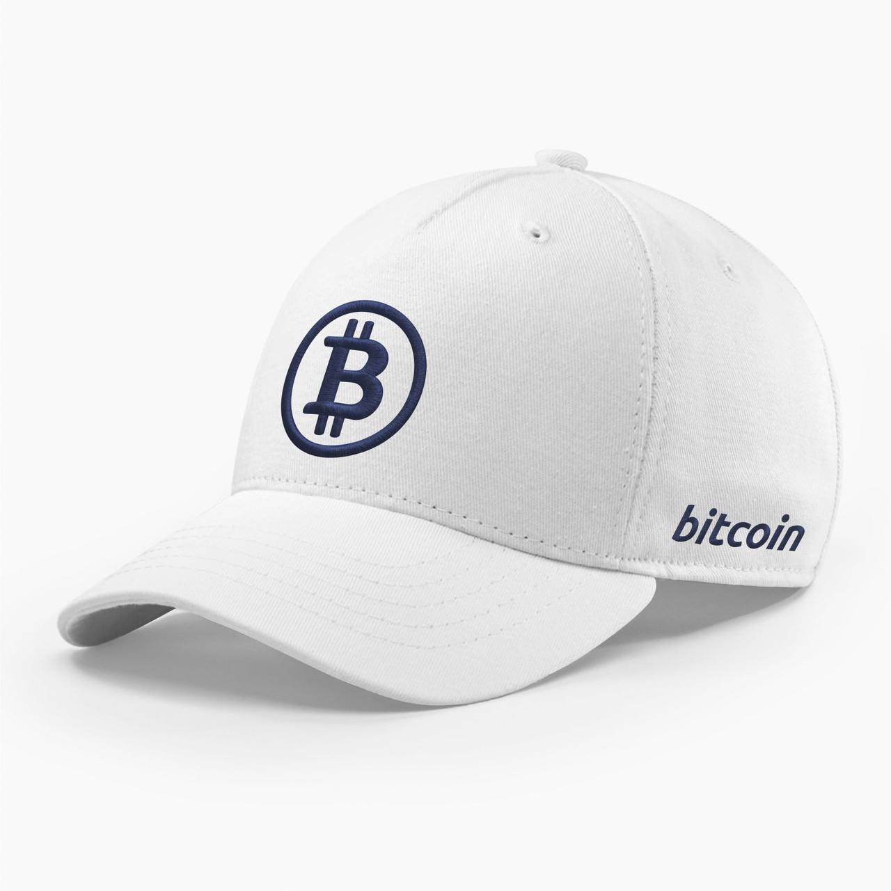 Кепка бейсболка INAL Биткоин Bitcoin BTC S / 53-54 RU Белый 80453
