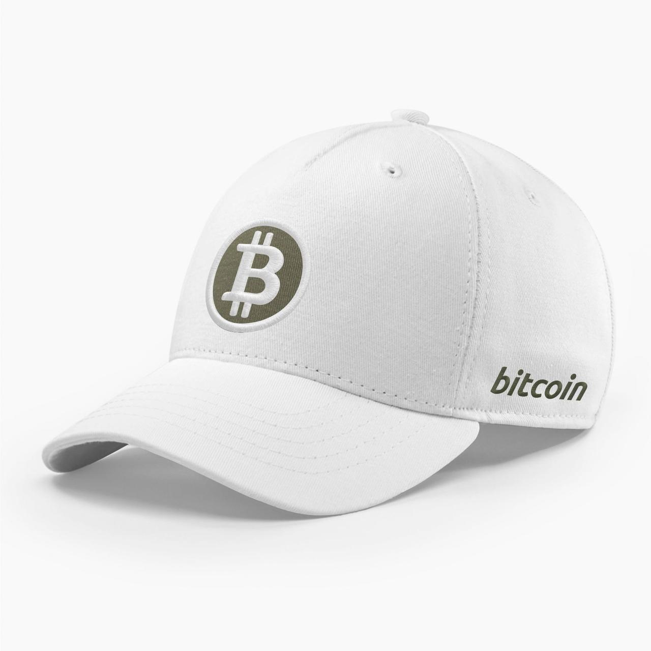 Кепка бейсболка INAL Биткоин Bitcoin BTC S / 53-54 RU Белый 80853