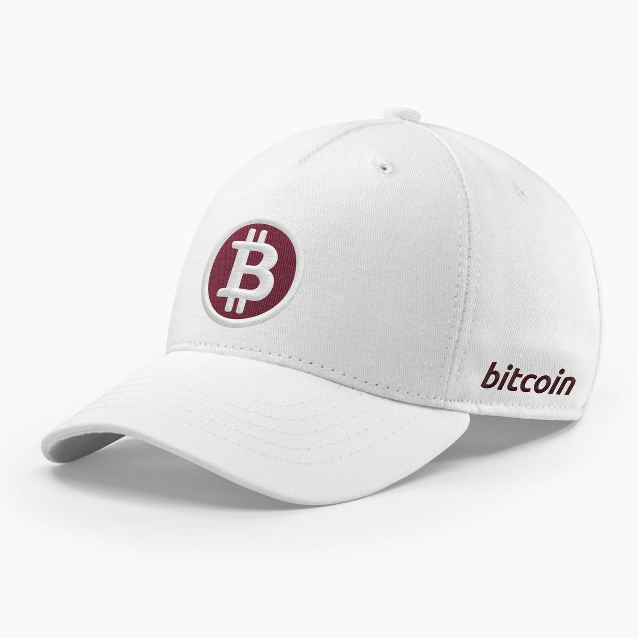 Кепка бейсболка INAL Биткоин Bitcoin BTC S / 53-54 RU Белый 91553