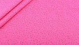 Квітковий набір тканини для рукоділля в помаранчевому кольорі - 8 відрізів 25*25 см, фото 9