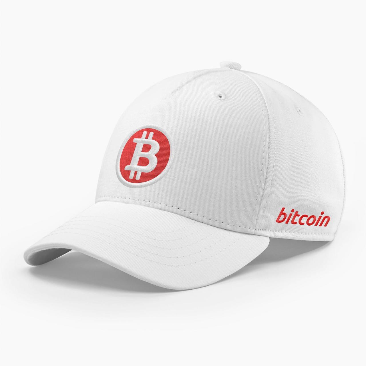 Кепка бейсболка INAL Биткоин Bitcoin BTC S / 53-54 RU Белый 94853