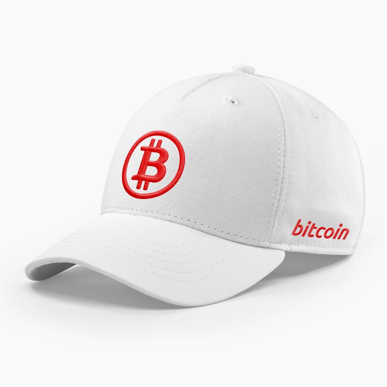 Кепка бейсболка INAL Биткоин Bitcoin BTC S / 53-54 RU Белый 94953