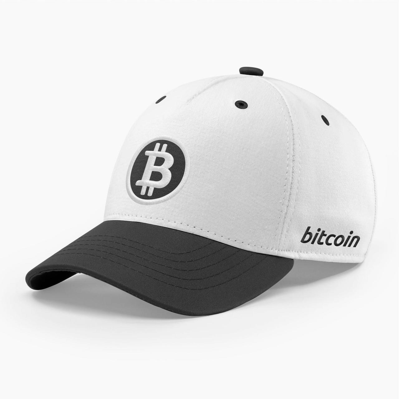 Кепка бейсболка INAL Биткоин Bitcoin BTC S / 53-54 RU Белый 100853