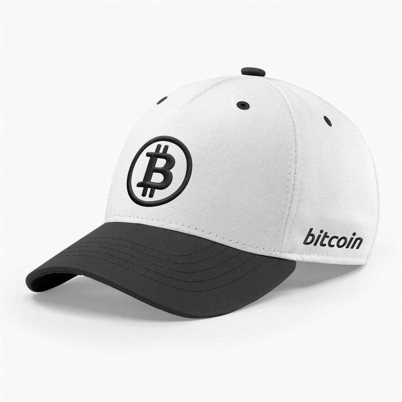 Кепка бейсболка INAL Биткоин Bitcoin BTC S / 53-54 RU Белый 121453