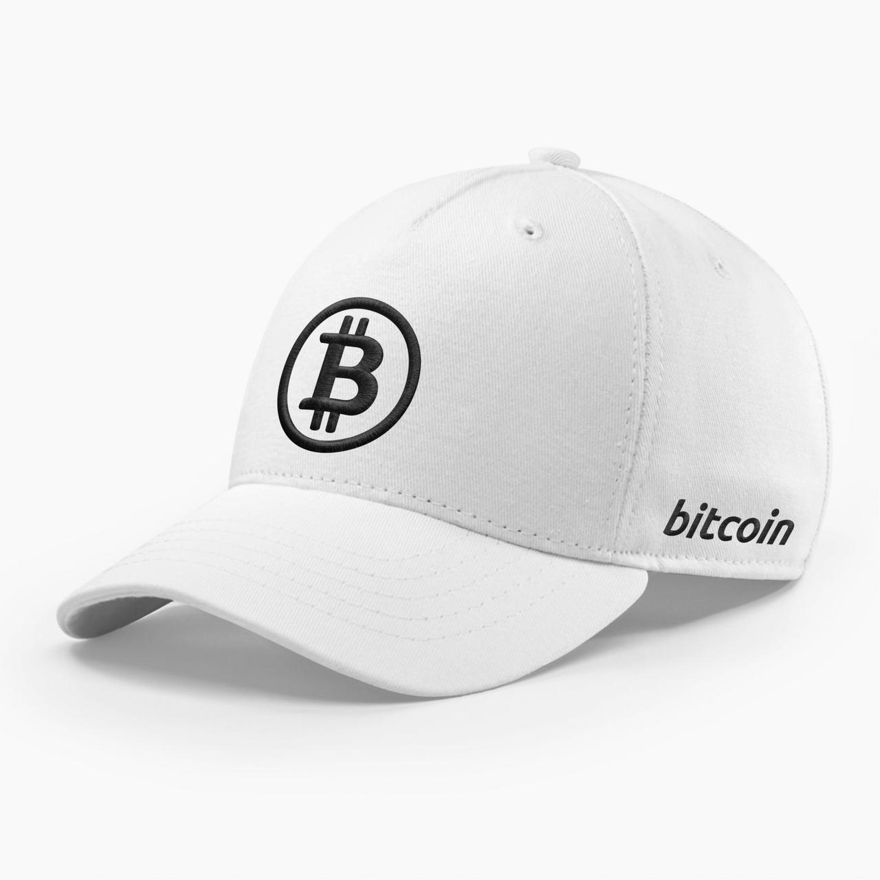 Кепка бейсболка INAL Биткоин Bitcoin BTC S / 53-54 RU Белый 121553