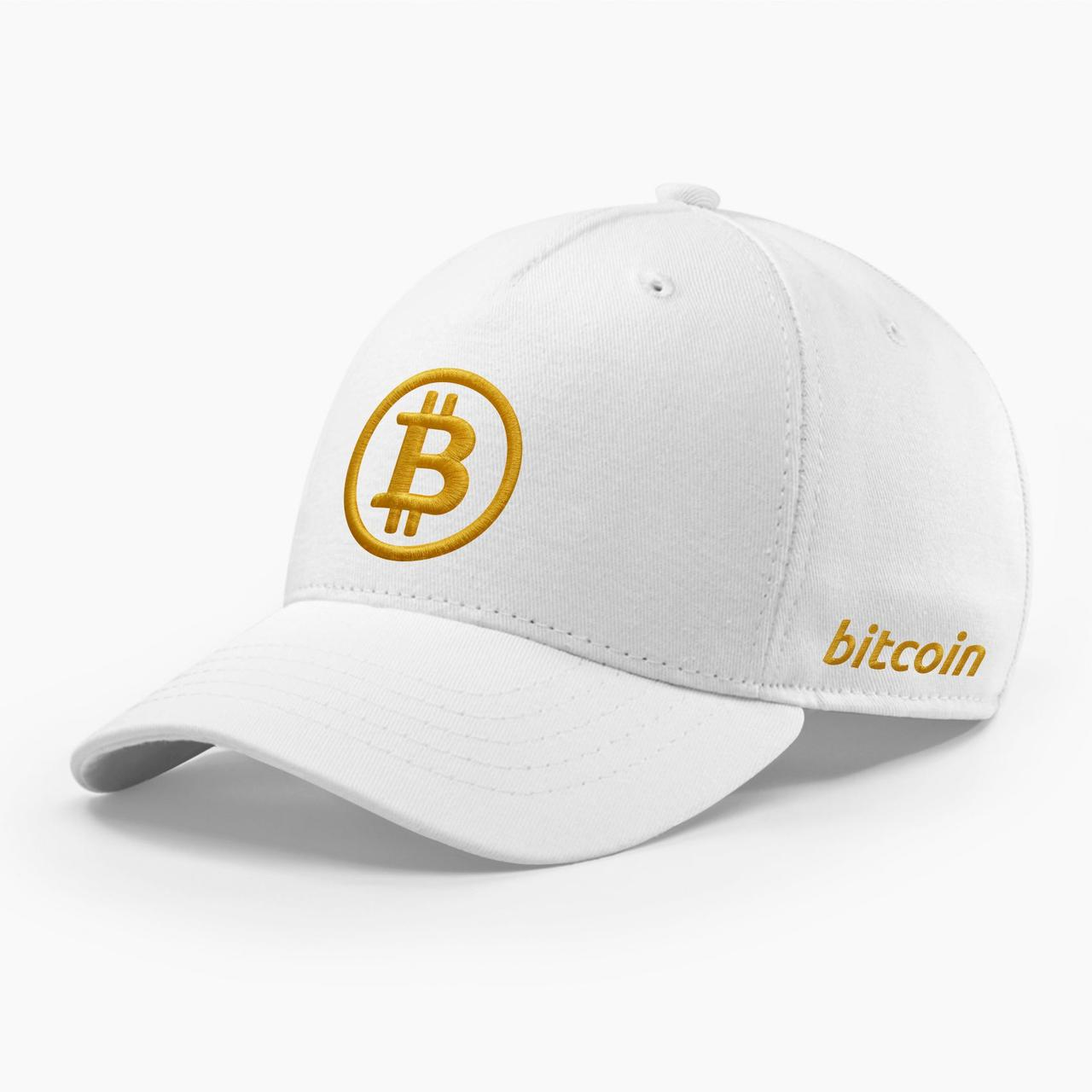 Кепка бейсболка INAL Биткоин Bitcoin BTC S / 53-54 RU Белый 121653