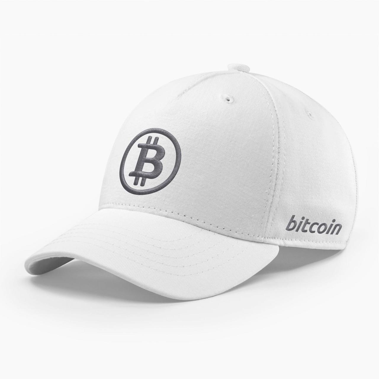 Кепка бейсболка INAL Биткоин Bitcoin BTC S / 53-54 RU Белый 146253